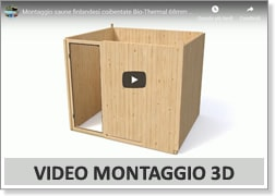 Video montaggio saune finlandesi coibentate BIO/THERMAL 68 mm